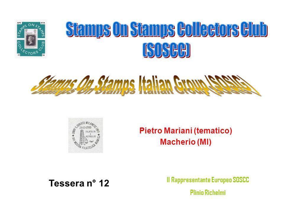 Pietro Mariani (tematico) Il Rappresentante Europeo SOSCC