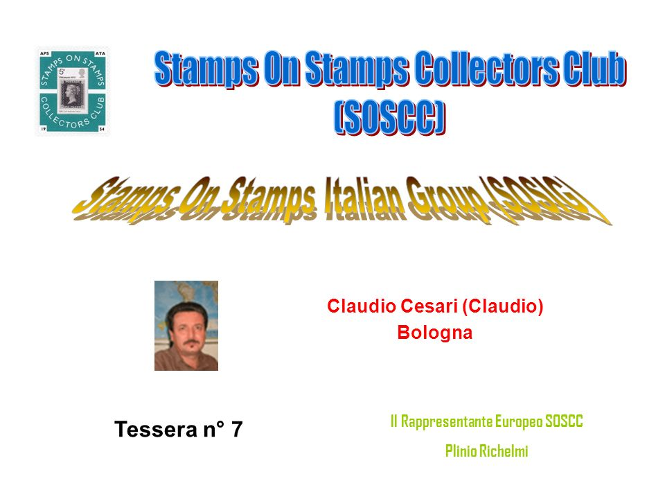 Claudio Cesari (Claudio) Il Rappresentante Europeo SOSCC