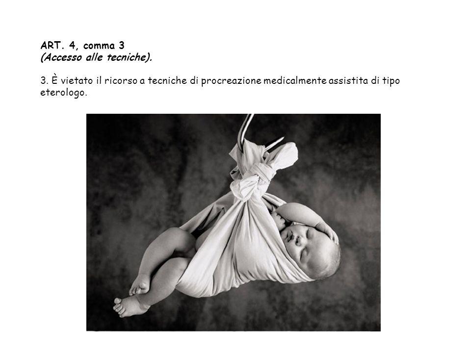 ART. 4, comma 3 (Accesso alle tecniche). 3