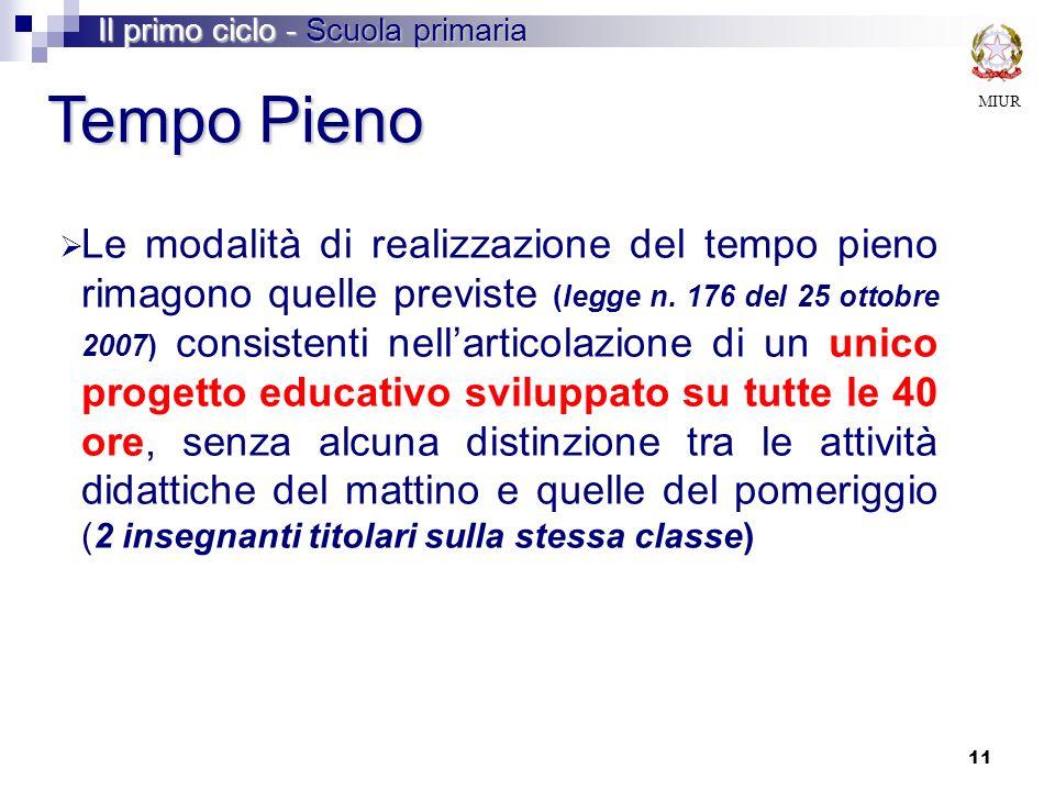 Il primo ciclo - Scuola primaria
