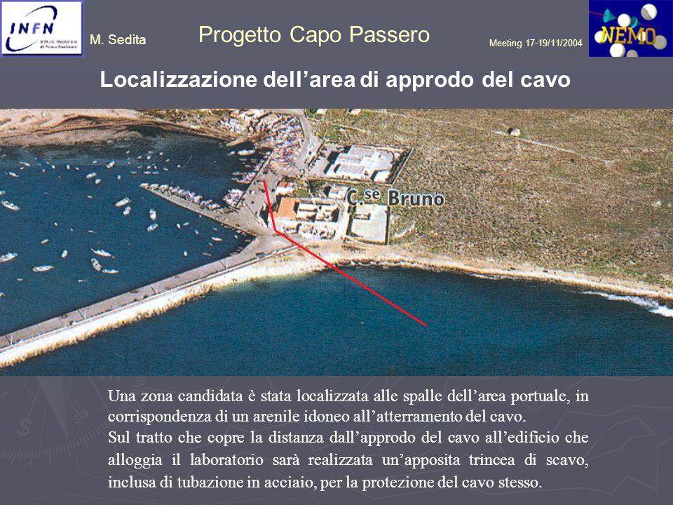 Localizzazione dell'area di approdo del cavo