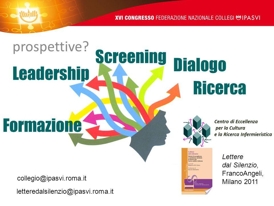 Screening Dialogo Leadership Ricerca Formazione prospettive Lettere