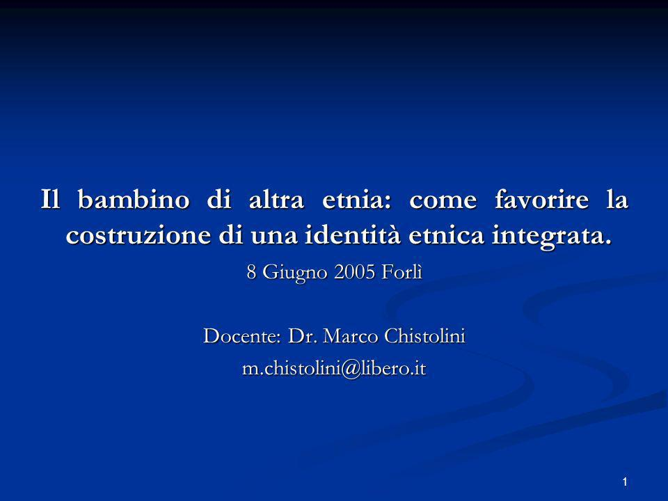 Docente: Dr. Marco Chistolini