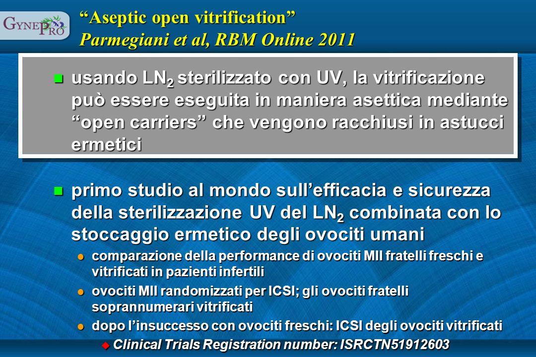 Aseptic open vitrification Parmegiani et al, RBM Online 2011