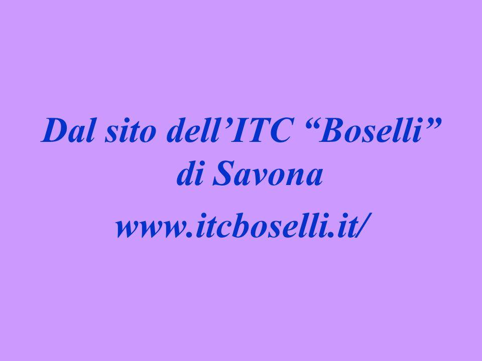 Dal sito dell'ITC Boselli di Savona