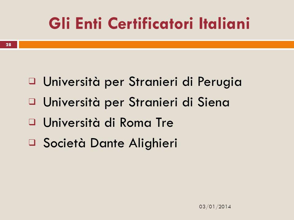 Gli Enti Certificatori Italiani