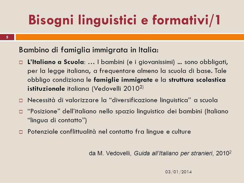 Bisogni linguistici e formativi/1