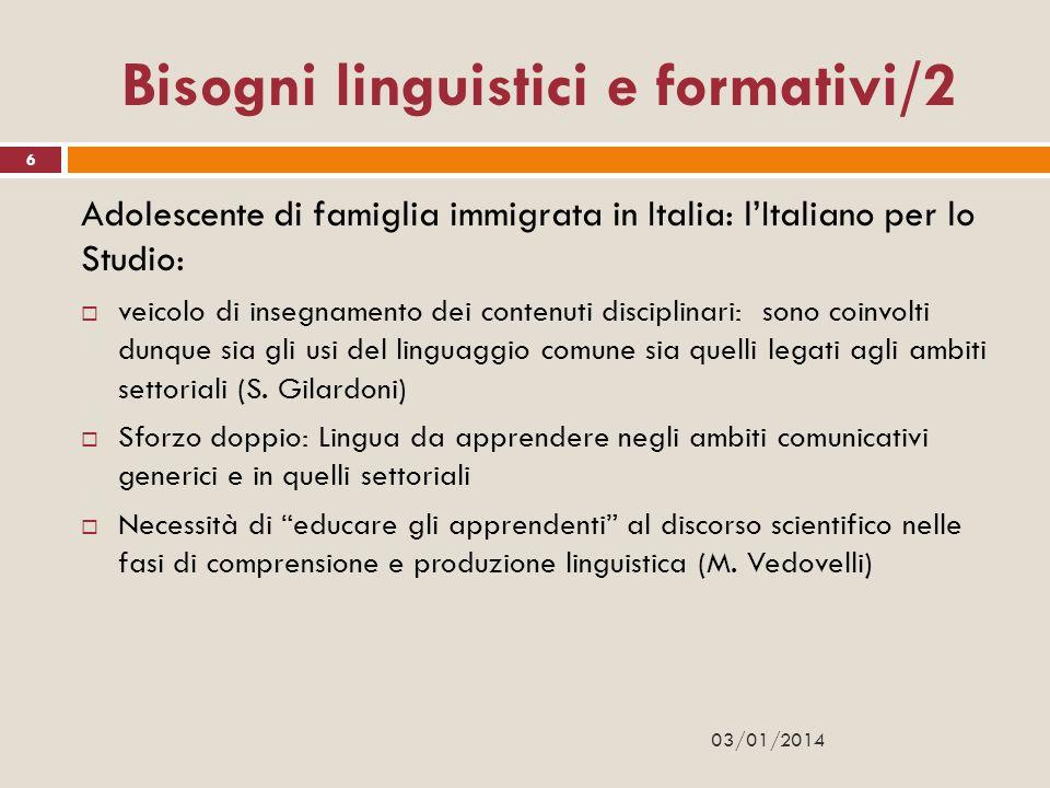 Bisogni linguistici e formativi/2
