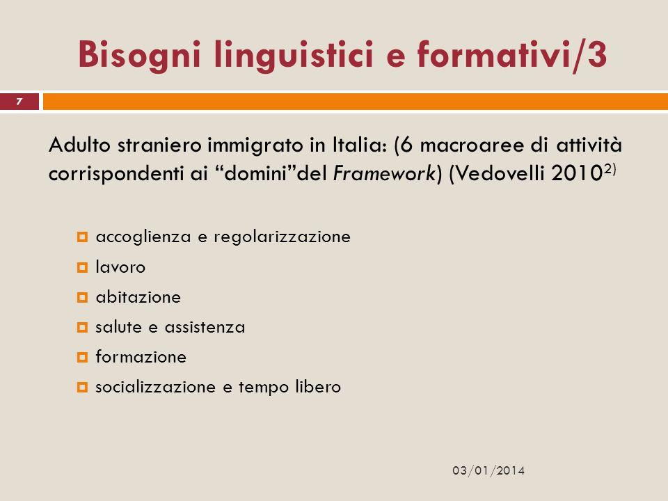 Bisogni linguistici e formativi/3