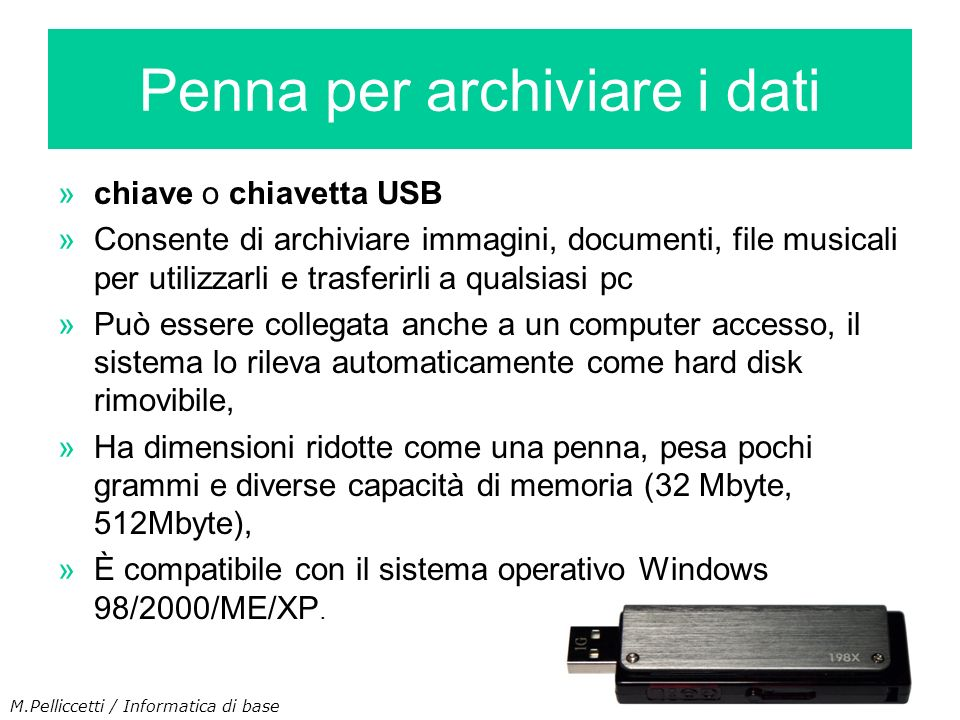 Penna per archiviare i dati