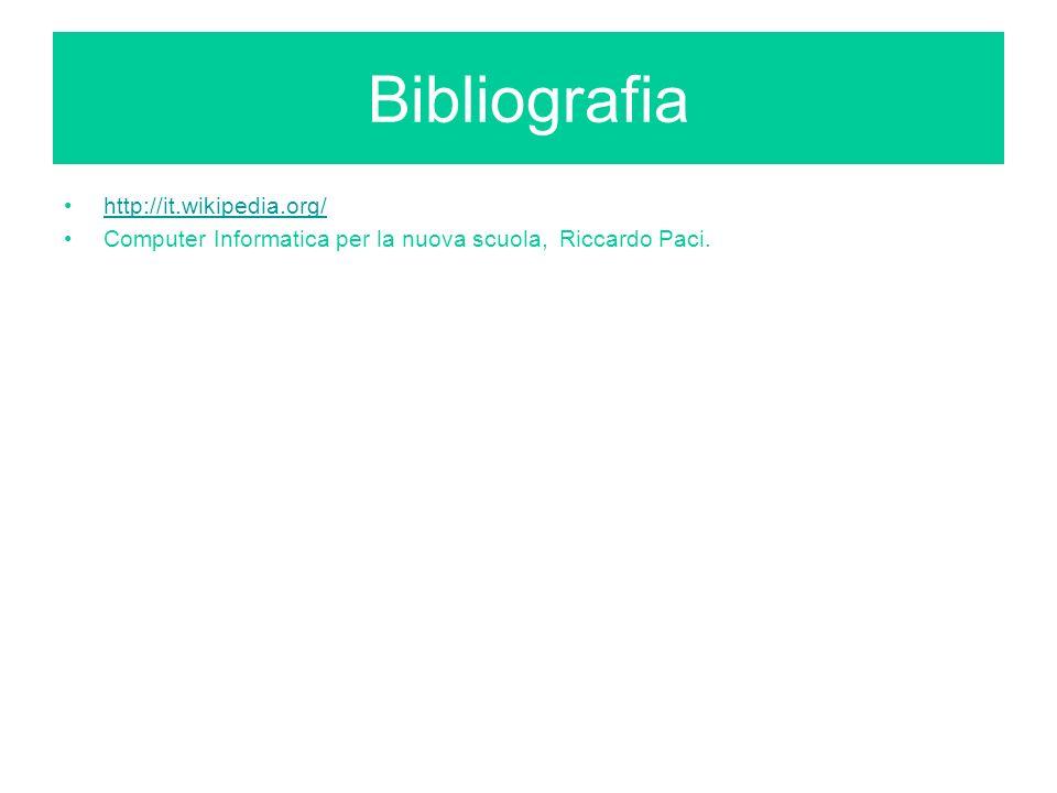 Bibliografia http://it.wikipedia.org/