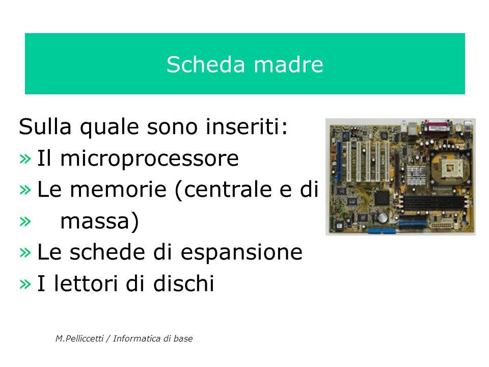 Sulla quale sono inseriti: Il microprocessore