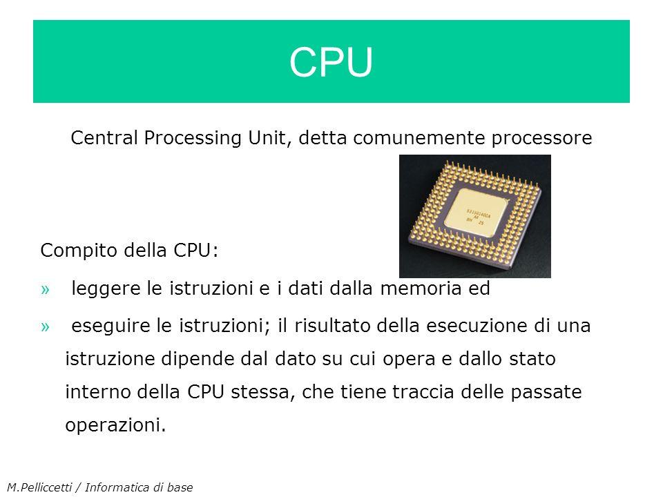 Central Processing Unit, detta comunemente processore