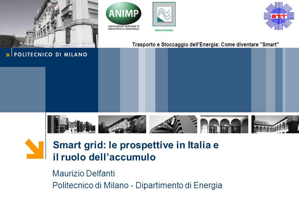 Maurizio Delfanti Politecnico di Milano - Dipartimento di Energia