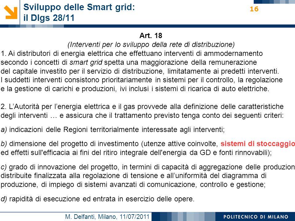 Sviluppo delle Smart grid: il Dlgs 28/11
