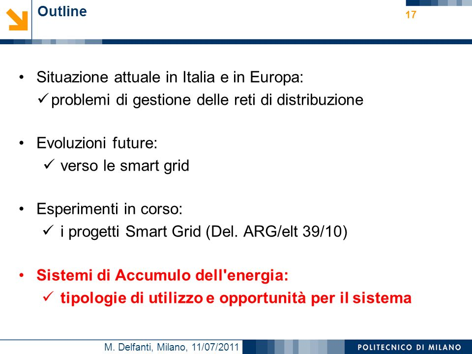 Situazione attuale in Italia e in Europa: