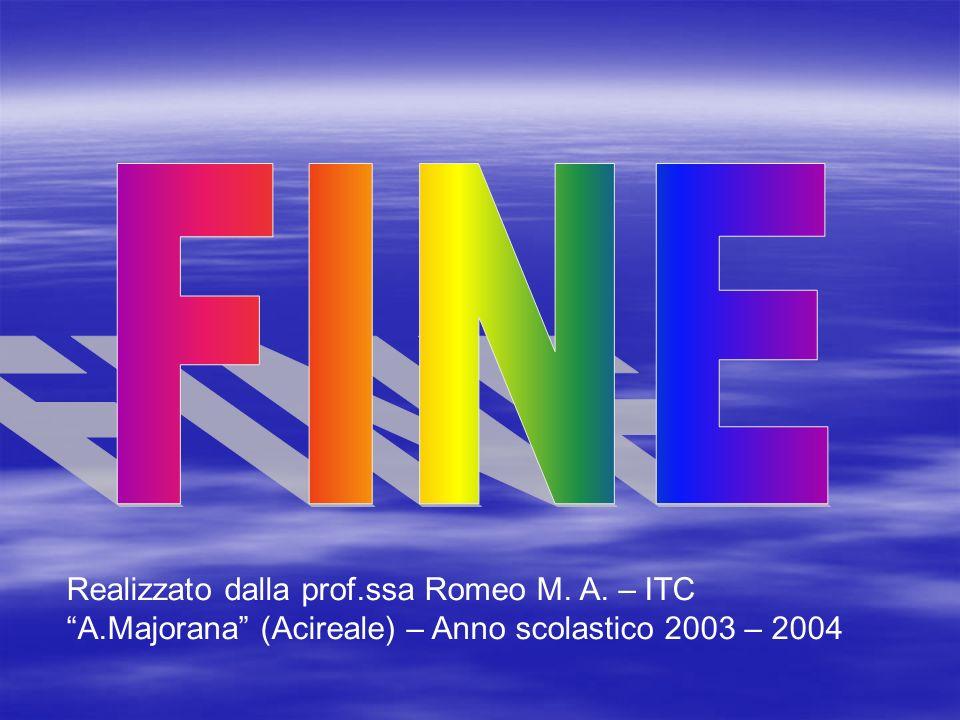 FINE Realizzato dalla prof.ssa Romeo M. A.