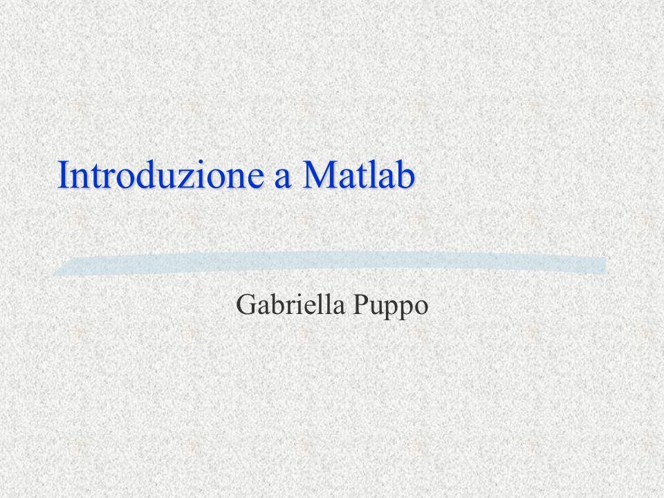 Introduzione a Matlab Gabriella Puppo