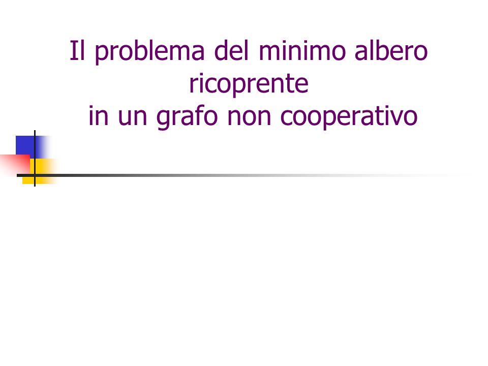 Il problema del minimo albero ricoprente in un grafo non cooperativo
