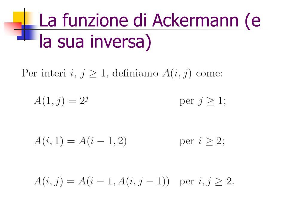La funzione di Ackermann (e la sua inversa)