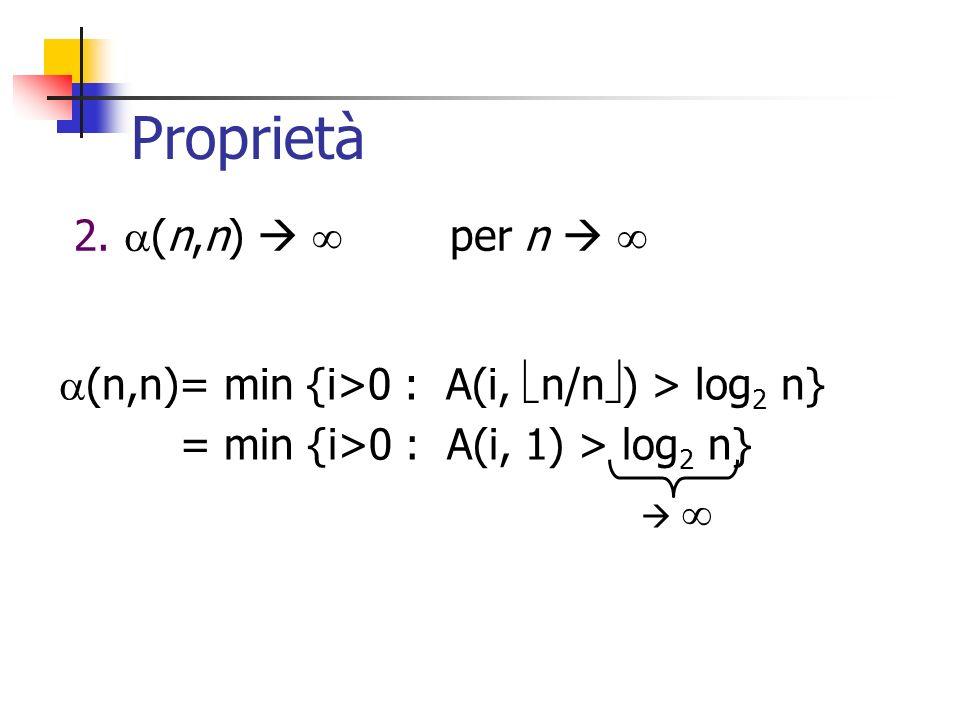 Proprietà 2. (n,n)   per n  