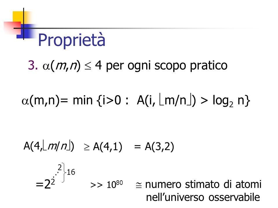 Proprietà 3. (m,n)  4 per ogni scopo pratico
