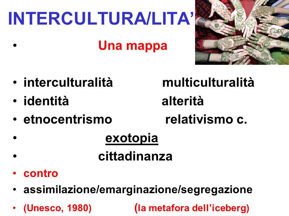 INTERCULTURA/LITA' Una mappa interculturalità multiculturalità