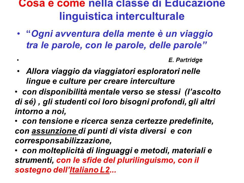 Cosa e come nella classe di Educazione linguistica interculturale