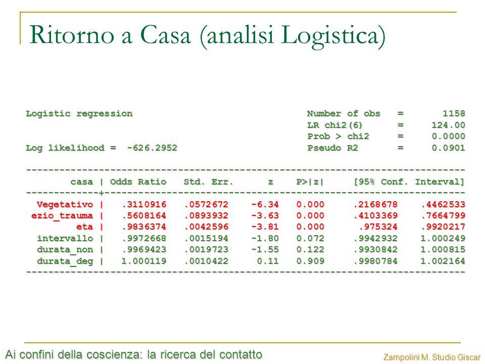 Ritorno a Casa (analisi Logistica)