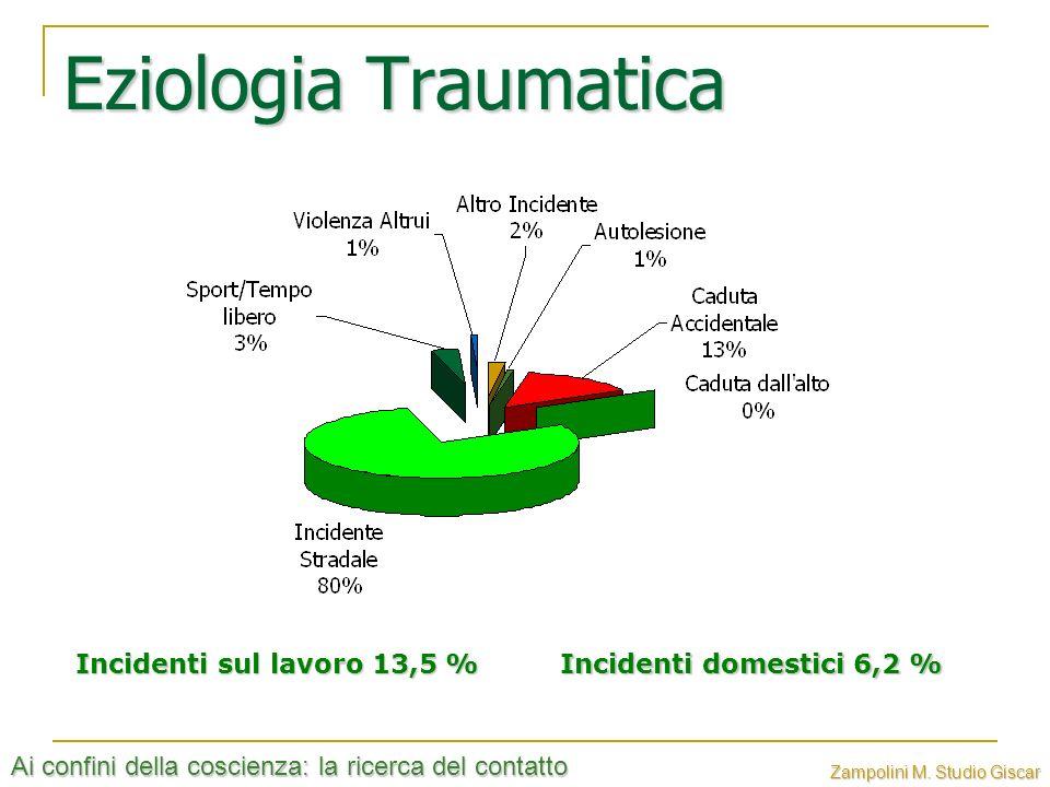 Eziologia Traumatica Incidenti sul lavoro 13,5 %