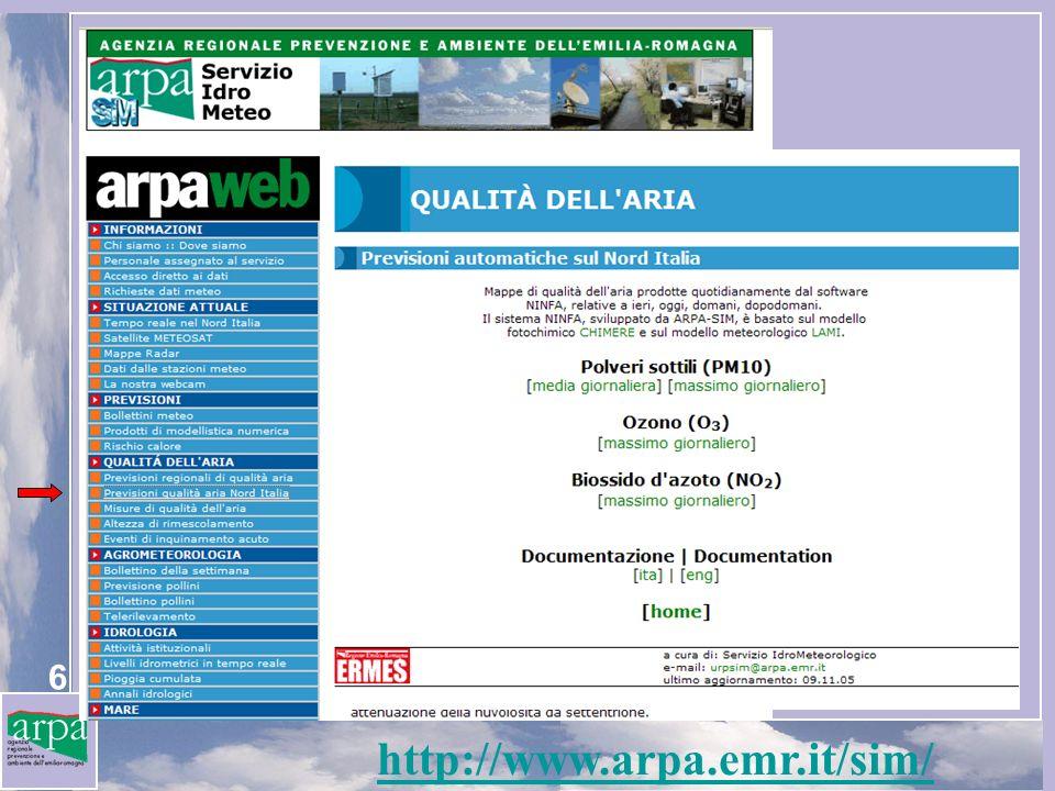 http://www.arpa.emr.it/sim/