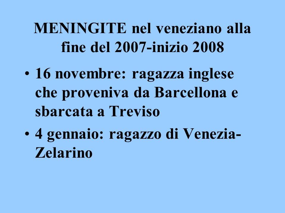 MENINGITE nel veneziano alla fine del 2007-inizio 2008