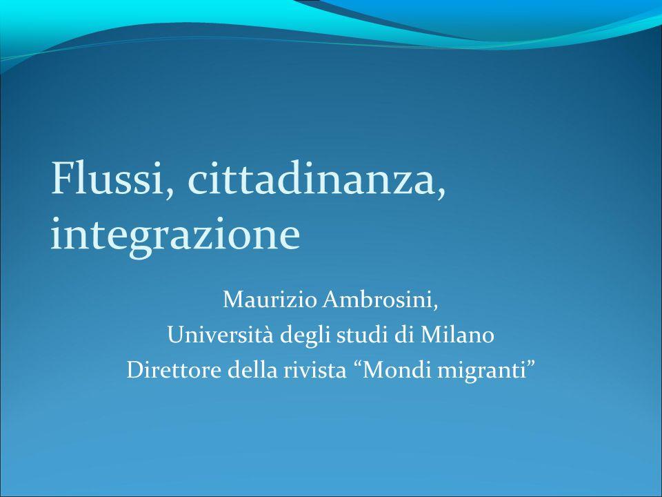 Flussi, cittadinanza, integrazione