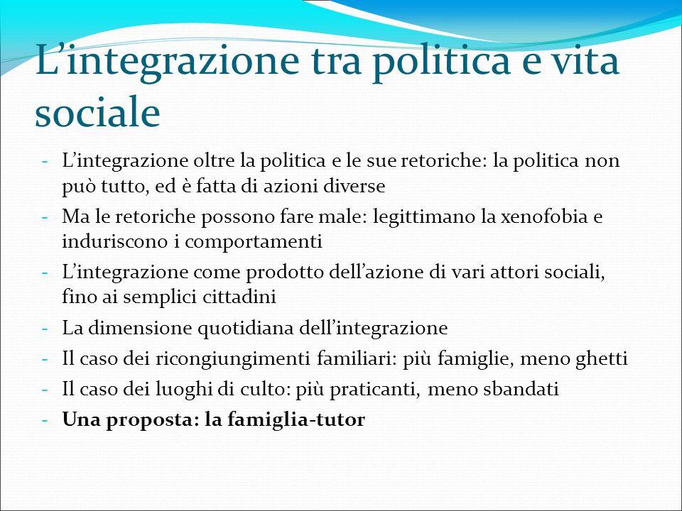L'integrazione tra politica e vita sociale