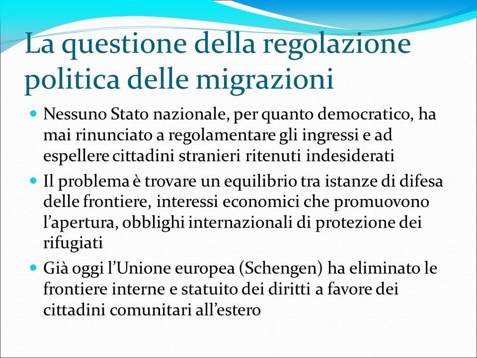La questione della regolazione politica delle migrazioni