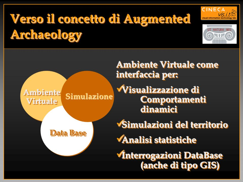 Verso il concetto di Augmented Archaeology