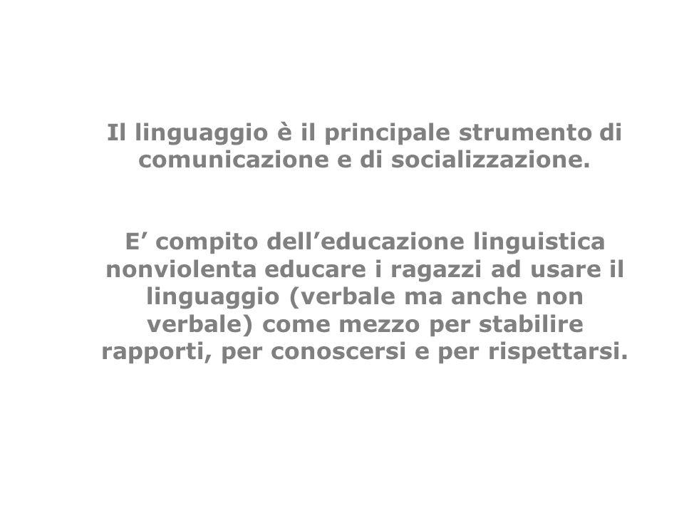 Il linguaggio è il principale strumento di comunicazione e di socializzazione.
