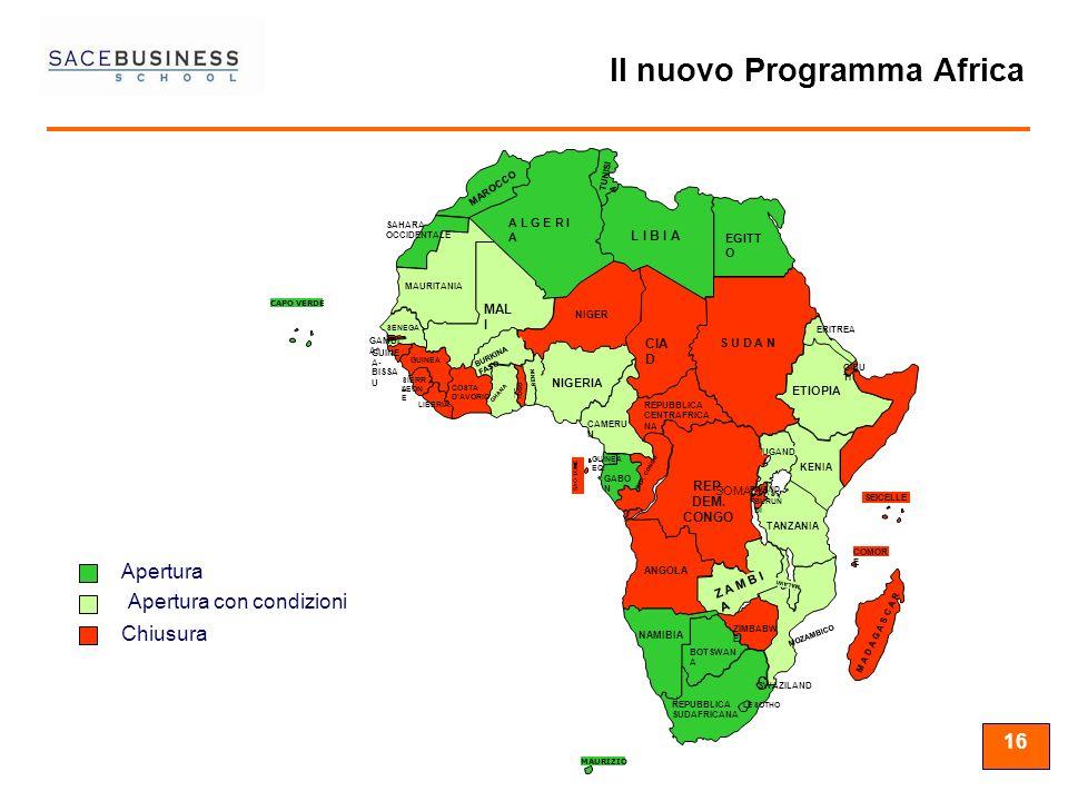 Il nuovo Programma Africa