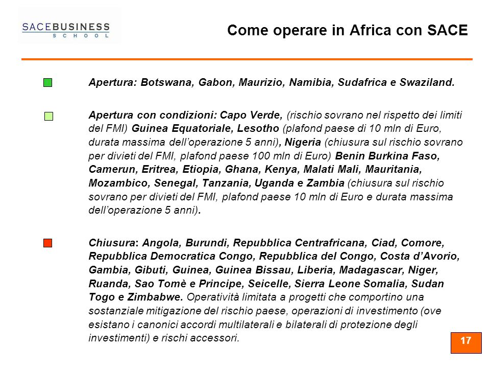 Come operare in Africa con SACE