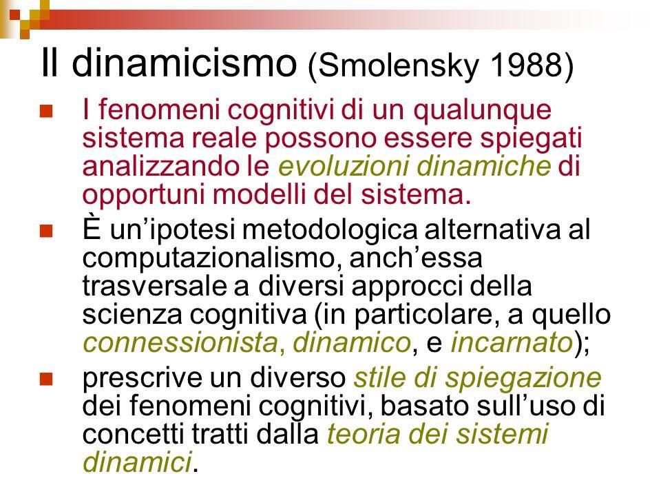 Il dinamicismo (Smolensky 1988)