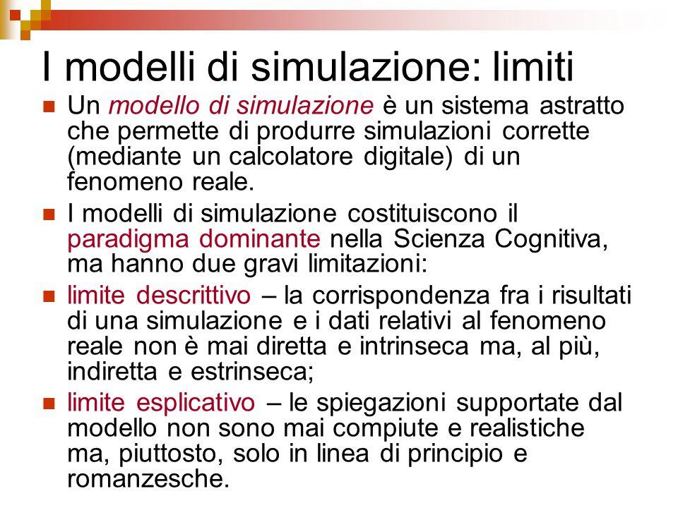 I modelli di simulazione: limiti