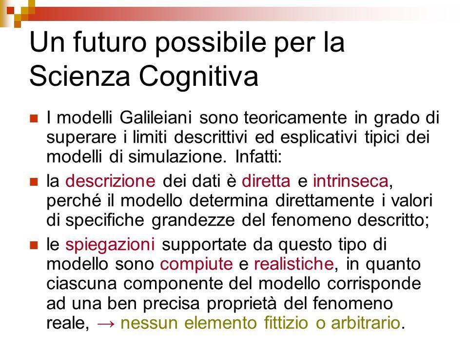 Un futuro possibile per la Scienza Cognitiva