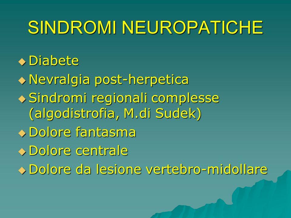 SINDROMI NEUROPATICHE