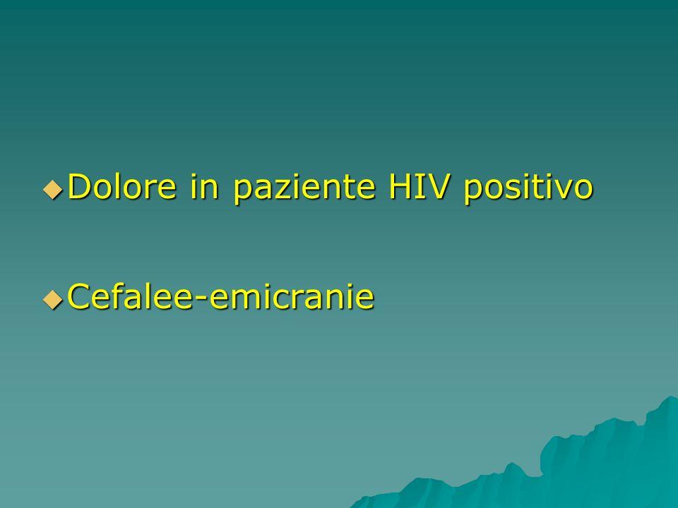 Dolore in paziente HIV positivo
