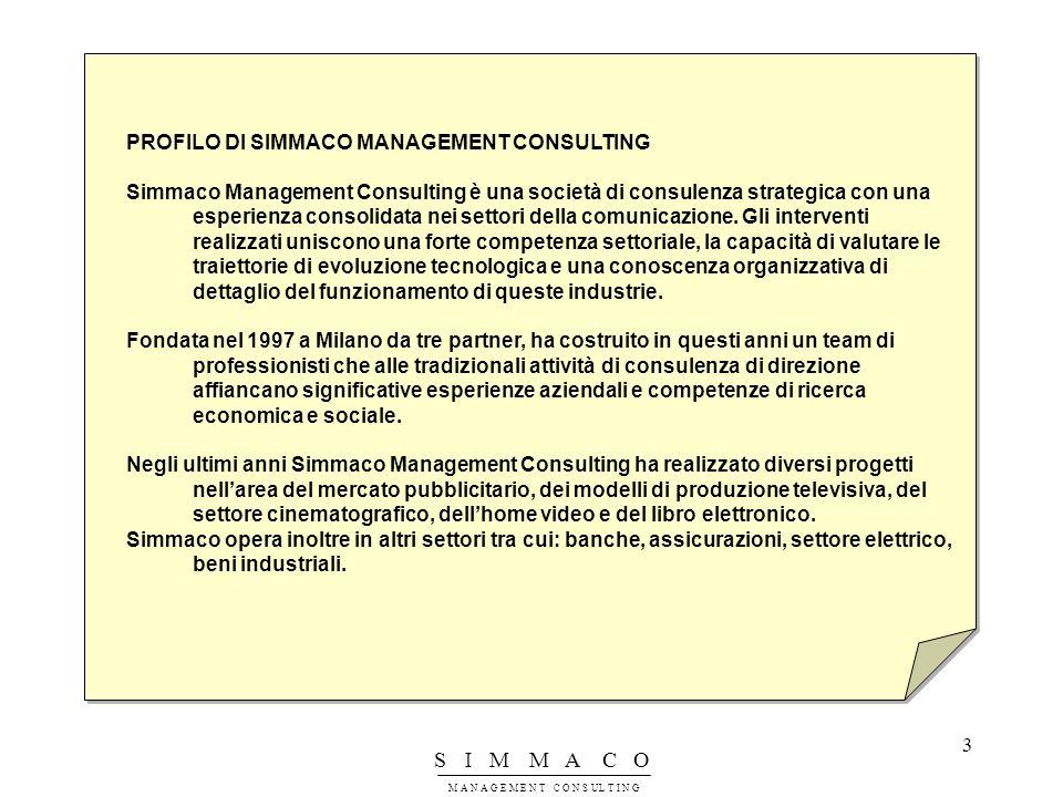 PROFILO DI SIMMACO MANAGEMENT CONSULTING