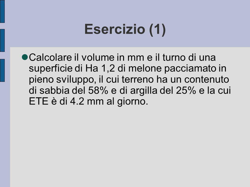 Esercizio (1)