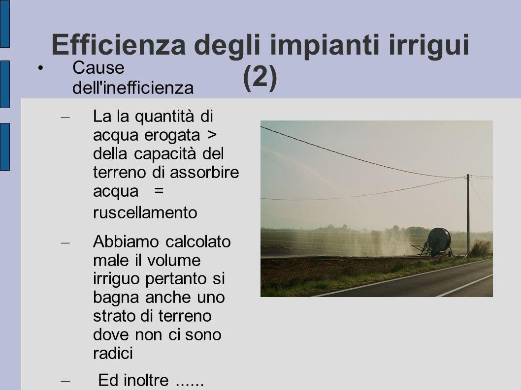 Efficienza degli impianti irrigui (2)