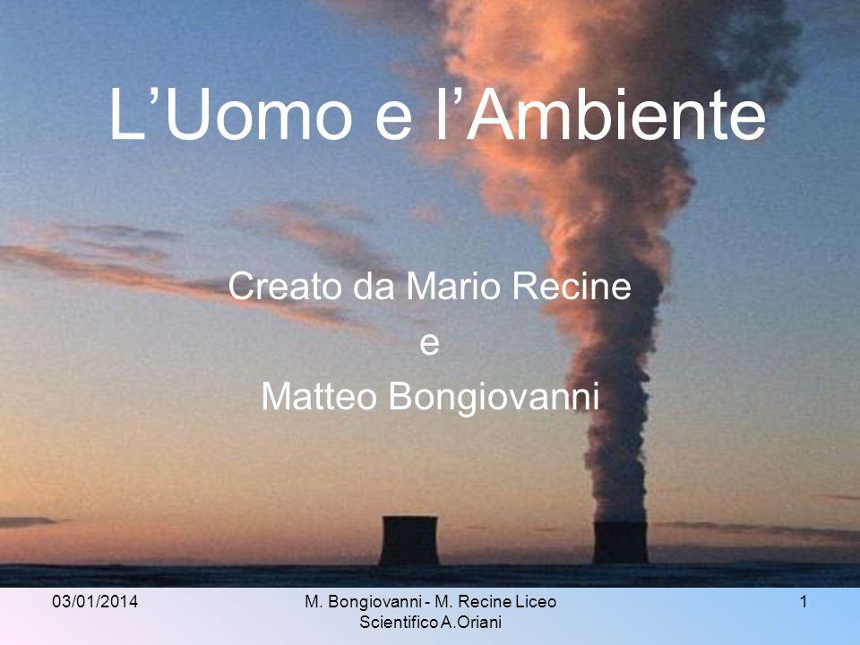 Creato da Mario Recine e Matteo Bongiovanni