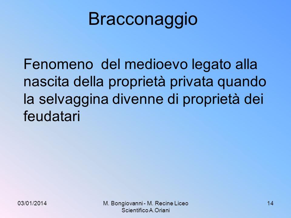 M. Bongiovanni - M. Recine Liceo Scientifico A.Oriani