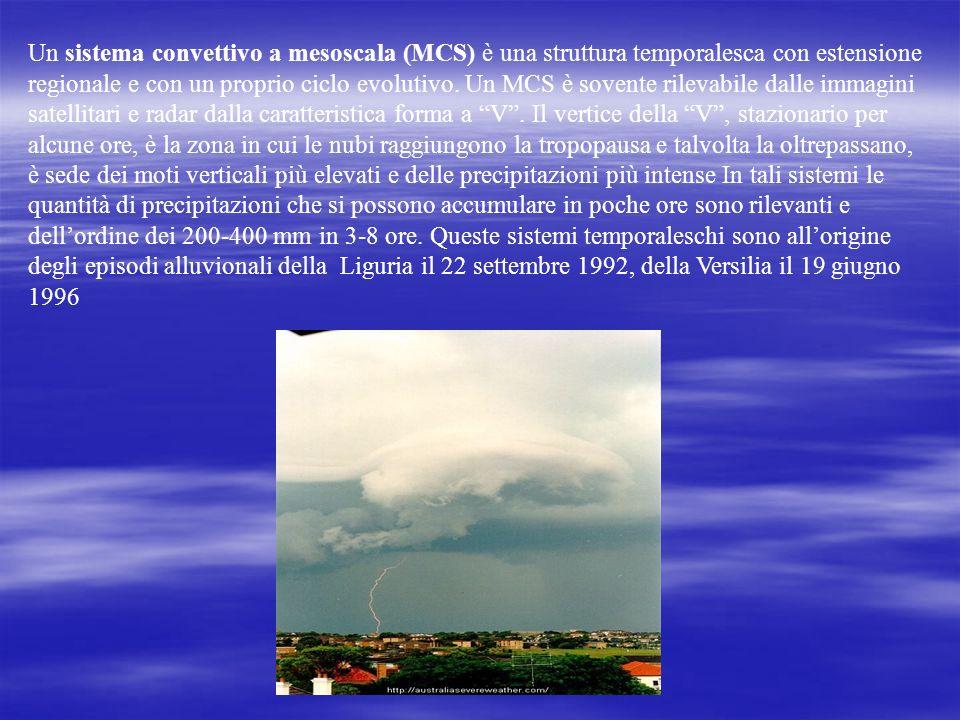 Un sistema convettivo a mesoscala (MCS) è una struttura temporalesca con estensione regionale e con un proprio ciclo evolutivo.